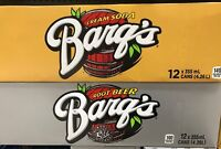 BARQS SODA POP 12 CANS- CREAM SODA, ROOT BEER *YOU PICK* 355ML-12OZ CANADIAN