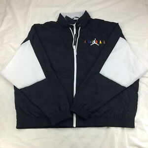 New Jordan Sport DNA Windbreaker Jacket Black White Multi CD5747 010 Men's Sz L