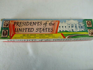 Vintage 1950s Marx Presidents of the United States plastic figure set 2nd series