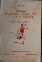 """Louis Zamperini (d.14) POW """"Unbroken"""" Autographed Signed 1940 USC Program"""