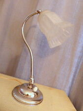 Superbe ancienne lampe Art Déco Tulipe verre pressé métal chromé 1950 orientable