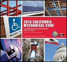 2016 California Mechanical Code Book - New