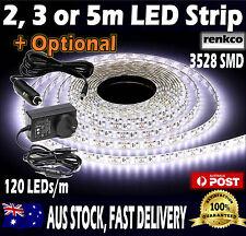 2m, 3m or 5m Led Strip Lights Cool White Waterproof Flexible 12V 3528 SMD