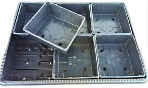Anzuchtset Untersetzer TK3040F+ 6 Saatschalen TK1214 Pikierplatte Anzuchtpalette