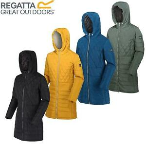 Regatta Womens Parmenia Insulated Quilted Hooded Parka Jacket Long Coat