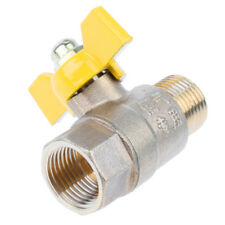 "1/2"" Female Male Gas Water Brass Ball Valve Shut Off with Handle - Durable"