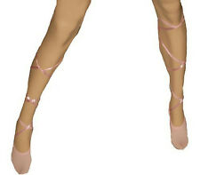 Pink Ballerina Sock with Satin Lace up Ties