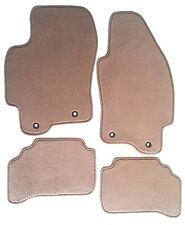 Jaguar X-Type Beige (Tan) Replacement 4PC Floor Mats - Serged Edges 2002 03 04