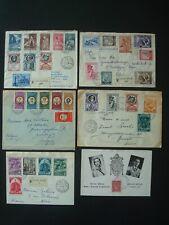VATICAN 1940-1960 6 COVERS / o/w to BELGIUM