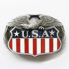 Boucle Ceinture Biker Eagle Drapeau américain aigle USA flag custom motorcycles