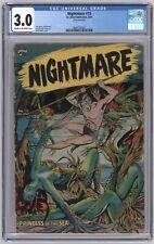 Nightmare #13 CGC 3.0 (St. John, 8/1954) Matt Baker Cover