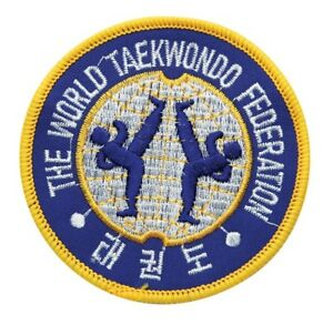 "World Taekwondo Federation(WTF) Patch 3.5"" Taekwondo Uniform Gi-BLUE,Brand New"