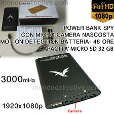 microcamera power bank spy spia camera hd cam camera sorveglianza 32 gb .OFFERTA