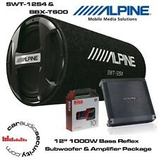 "Alpine SWT-12S4 - 12"" Bass Reflex Sub Bass Tube Alpine BBX-T600 Amplifier Deal"