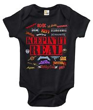 Keepin' It Real Heavy Metal One-piece Baby Bodysuit Cute Baby Clothes