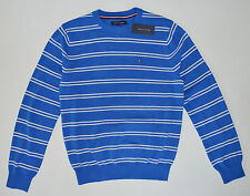 NWT Mens TOMMY HILFIGER Pullover Sweater,Sky  Blue, L, Large, Striped