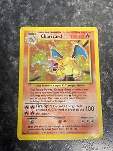 Pokemon Base Set Unlimited Charizard 4/102 Mp-Hp