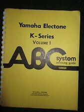 Yamaha Electone Organ K Series Volume 1 Service Manual Schematics MT-1 BK DK LK