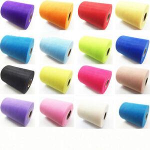 "100 Yrad Net Mesh Tulle Fabric DIY 15cm6"" Fairy TUTU Dress Wedding Decor 34Color"
