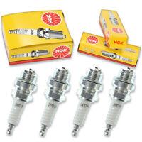 4pcs Hirth NGK Standard Spark Plugs 500 220R Snowmobile Engines Kit Set jq