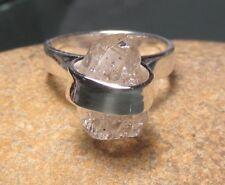 Sterling silver 925 Herkimer diamond ring UK M½-¾/US 6.75. Gift bag.