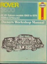 ROVER 1968 TO 1974 3500  OWNERS WORKSHOP MANUAL