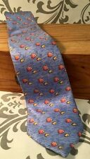 TOMMY HILFIGER TIE Blue Silk Tropical Fish Rare HTF #320