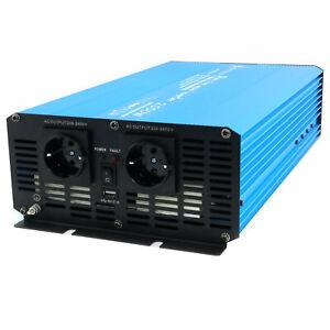 Spannungswandler Wechselrichter 2500 5000 Watt 12V 230V reiner Sinus NEU OVP