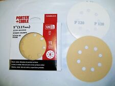 "5"" 8 Hole PSA Stick On Sanding Discs 15 pack 120 Grit PC"