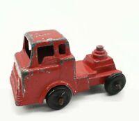 Vintage 1950-60s Metal Red Toy Semi Tractor Truck Pressed Steel