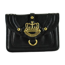 NEW Juicy Couture Crown Leather Coin Case Bag Black ON SALE!