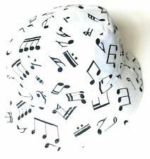 Unisex Reversible Cotton Bucket Rain Hat - Music Notes