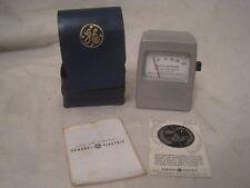 vintage GE Footcandles General Electric Light meter w/ soft case & papers