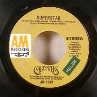 """The Carpenters Superstar / Bless the Beasts and Children 7"""" 45 A&M VG"""