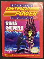Nintendo Power ninja gaiden II strategy guide (Poster included)