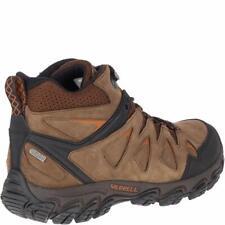 Merrell Men's Pulsate 2 Mid LTR Waterproof Hiking Shoe, Dark Earth, Size 10.0 1I