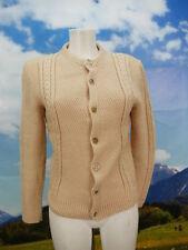 Orig. Vintage Strickjacke beige mit Zopfmuster kurze Trachtenjacke Jacke Gr.46