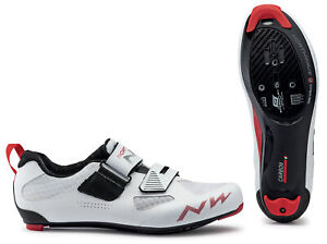 Northwave Tribute 2 Triathlon Bicycle Cycle Bike Shoes Carbon White