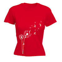 DANDELION FLOWER GRAPHIC CLIMBING WOMENS T-SHIRT seed designer mothers day gift