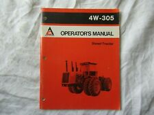1982 Allis-Chalmers 4W-305 tractor operator's manual