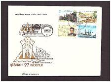 Indien 1593-96 FDC Briefmarkenausstellung Schiffe