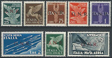 1943 It. Rep Sociale PA sopr. GNR BS I S.L (MNH) Cat. Sass A117I/25I € 14625,00