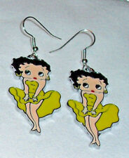 Betty BooYellow Earrings  Marilyn Pose Handcrafted Free Shipping within the USA
