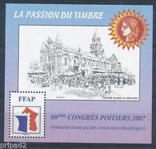 BLOC FFAP N° 01 ** 80ème Congrès Poitiers 2007