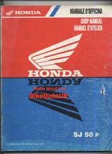 Honda SJ50 Bali (1993-1999) Genuine Factory Shop Manual Repair Book SJ 50 BR54