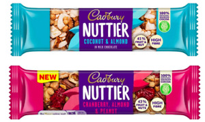 Cadbury Nuttier Coconut Almond Or Cranberry Chocolate Nuts Fruit 15 or 30 x 40g