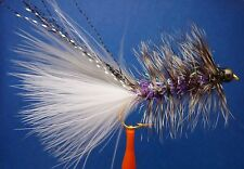 Woolly Bugger Smelt Streamer Flies #8 * Trout Salmon Fly (per 3) 1/4 dozen Bead