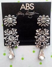 ABS by Allen Swartz Black Interchangeable Linear Crystal Drop Earrings NWT $55