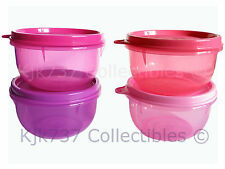 NEW MINI SET 4 RARE TUPPERWARE IDEAL LITTLE BOWLS 1 CUP CONTAINERS PINK & PURPLE