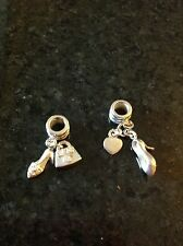 New! Pack of 2 charms! Rhona Sutton. Silver bracelet charms.Silver 925.